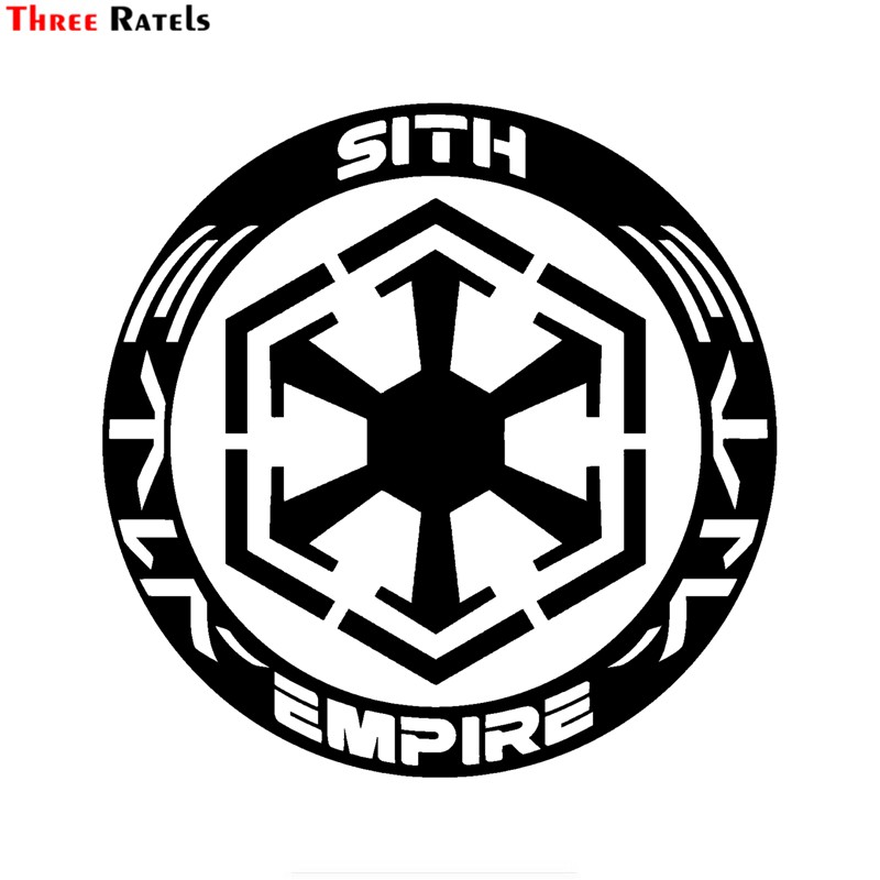 Three Ratels FTZ-32# 15x15cm Sith Empire Star Wars Inspired Car Sticker Bumper Vinyl Decal Sticker Auto Motorcycle Accessories