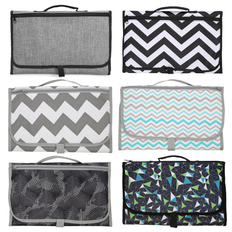 3 In 1 Portable Baby Diaper Cover Mat Waterproof Changing Pad Baby Travel Diaper Multifunction Clean Hand Folding Diaper Bag