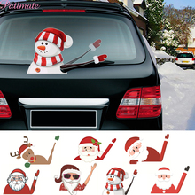 Christmas Car Sticker Santa Claus Decoration For Home Merry Ornaments 2019 New Year Gifts Xmas Natal