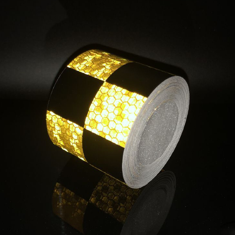 5cmx1m Reflective Bicycle Stickers Adhesive Tape For  Yellow Black Bike Stickers Bicycle Accessories