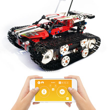 Technic Series The RC Track Remote Control Stunt Racer Car Vehicles Building Blocks Bricks Children Toys Gifts Compatible 42065 motorized 20005 technic car series remote control vehicle rc truck model building blocks bricks compatible with 42043 kids toys