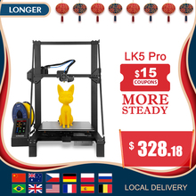 "LONGER LK5 Pro FDM 3D Printer Printer Size 300*300*400mm Open Source 4.3"" Full Color Touch Screen Big Size High Precision"