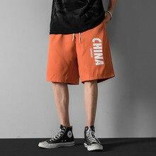 Мужская мода случайные шорты летом новый мужской хип-хоп печать шнурок шорты воздухопроницаемый шорты Мужские шорты для бега