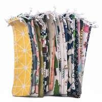 10 Uds. Bolsillos Portable pajilla de metal bolsas multicolor de paja reutilizable bolsa de almacenamiento de lino bolsa palillos cuchara bolsa de vajilla ligera
