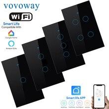 WIFI Smart Touch Switch USมาตรฐานสวิทช์Smart Life APPรีโมทคอนโทรลรองรับSmart Home Google Assistant