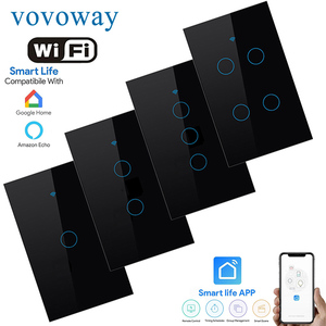 Image 1 - WIFI smart touch switch US standard light switch smart life APP remote control supports smart home alexa with Google Assistant