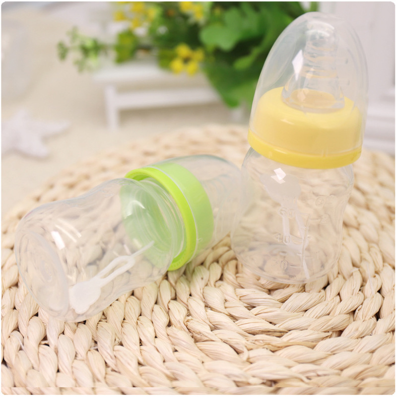 60ML Baby Mini Portable Feeding Bottle BPA Free Safe Infant Newborn Kids Nursing Care Feeder Fruit Juice Milk Water Bottle