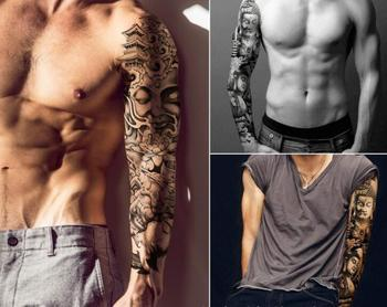100pcs/lot Large Version Full Arms Transfer Tattoos Stickers Mix Styles Water-proof Temporary Tattoos Tattoos & Body Art HA1765