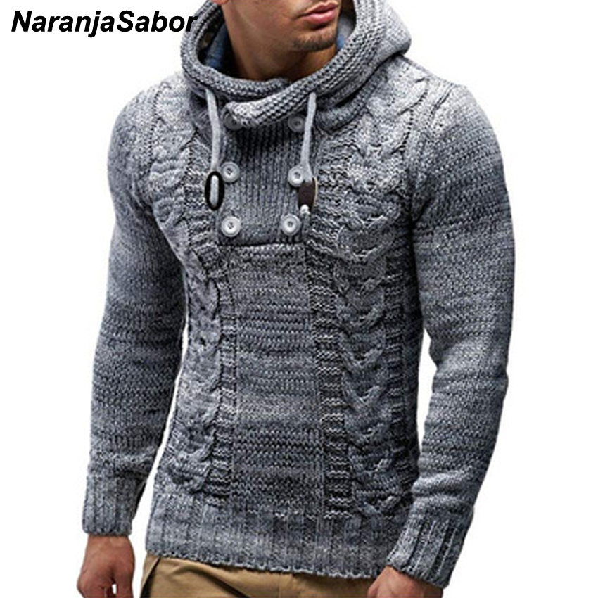 NaranjaSabor New Men's Hoodie 2020 Winter Men Warm Hooded Knitted Fashion Pullovers Sweatshirt Male Casual Brand Clothing N632 4