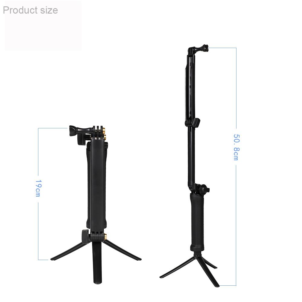 Гоу про 3 сторону рукоятки штатив моно-подом селфи палка для GoPro 8 7 6 5 4 3 Йи доставка SJ4000 SJ8Pro 4К Джи Осмо действий камеры аксессуары