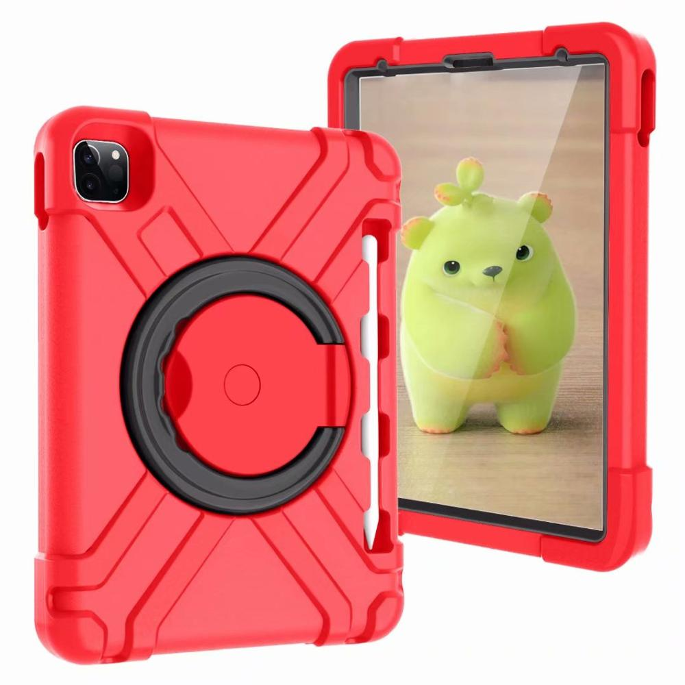Red-Black Red High Duty for iPad Pro 11 2018 2020 Case Kids A1980 A2230 Shockproof EVA 360 Pencil