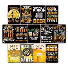 Dardos cerveja vintage placa sinal de metal plaquestin bar pub clube homem caverna cartazes placa parede decorativa retro decoração para casa 20x30cm