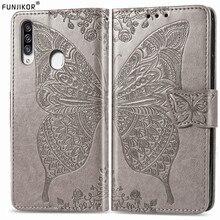 Funda de cuero con mariposa en relieve 3D para Samsung Galaxy A20s SM-A207F/DS A20 s e A207FN A205F A202F