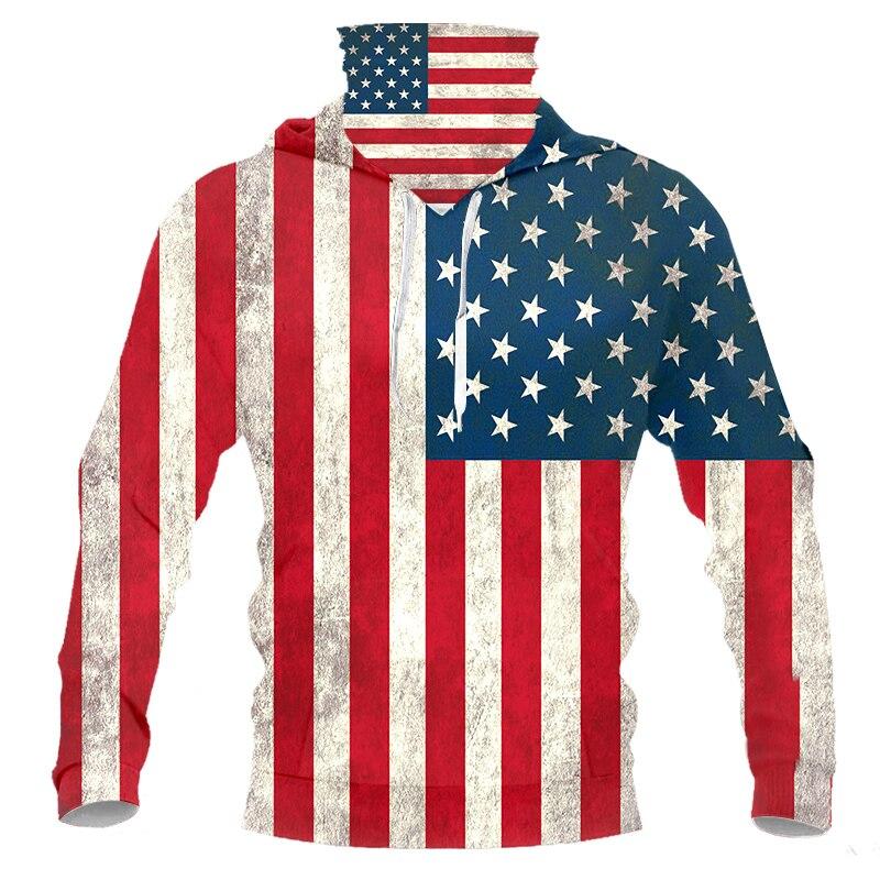 Cjlm Новый 2020 американский флаг 3d принт для женщин/мужчин