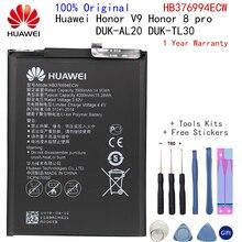 מקורי סוללה Huawei honor 8 פרו סוללה DUK AL20 DUK TL30 HB376994ECW 4000mAh מלא קיבולת Huawei V9 סוללה