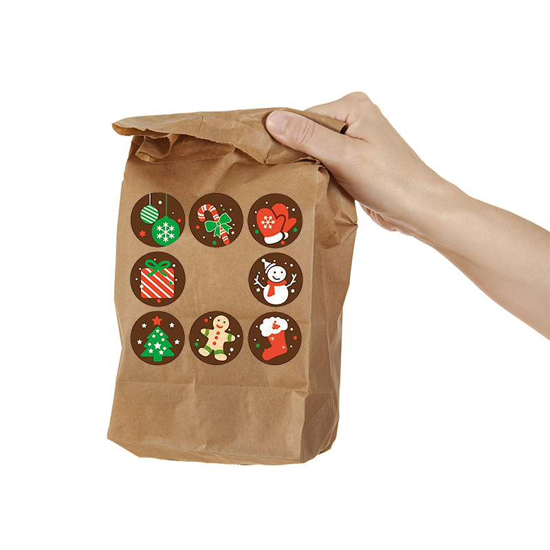 500pcs Merry Christmas Stickers Christmas Tree Elk Candy Bag Sealing Sticker Christmas Gifts Box Labels Decorations New Year 6