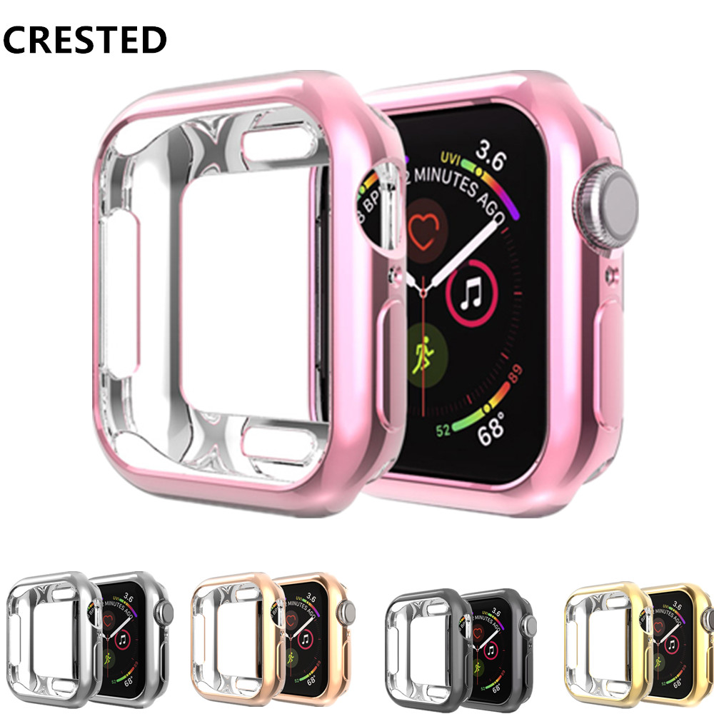 Cover Case For Apple Watch 4 3 5 Case Apple Watch Band 44mm 40mm 42mm/38mm Iwatch Case TPU Soft Silicone Protect Bumper
