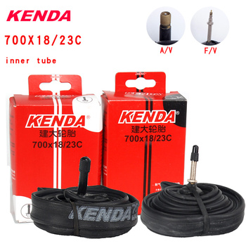Kenda bicycle inner tube 700C butyl rubber 700 * 18 23C American valve French valve mountain bike tire accessories image