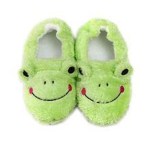 Children cartoon frog slippers toddler home shoes boy girl cotton non-slip soft bottom indoor kids winter