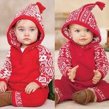 Г., новогодний и Рождественский костюм Ползунки для новорожденных с принтом снежинки, Рождественский комбинезон для маленьких девочек и мальчиков зимняя теплая одежда для детей от 0 до 24 месяцев