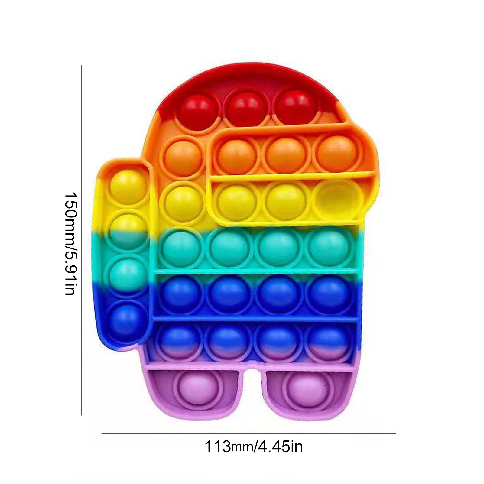 Fidget-Toys Relief-Toy Box Poppit Pop It Push Bubble Anti-Stress Squishy Gift Soft New img3