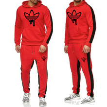 2019 brand mens hoodie + pants suit cotton casual sportswear fashion comfortable trousers