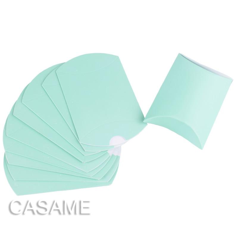 50pcs Candy Box Bag Craft Paper Pillow Shape Wedding Decoration Party