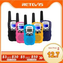 Retevis rt388 walkie talkie crianças 2 pces comunicador crianças distância de rádio 100 800m walkie talkies aniversário presente de natal