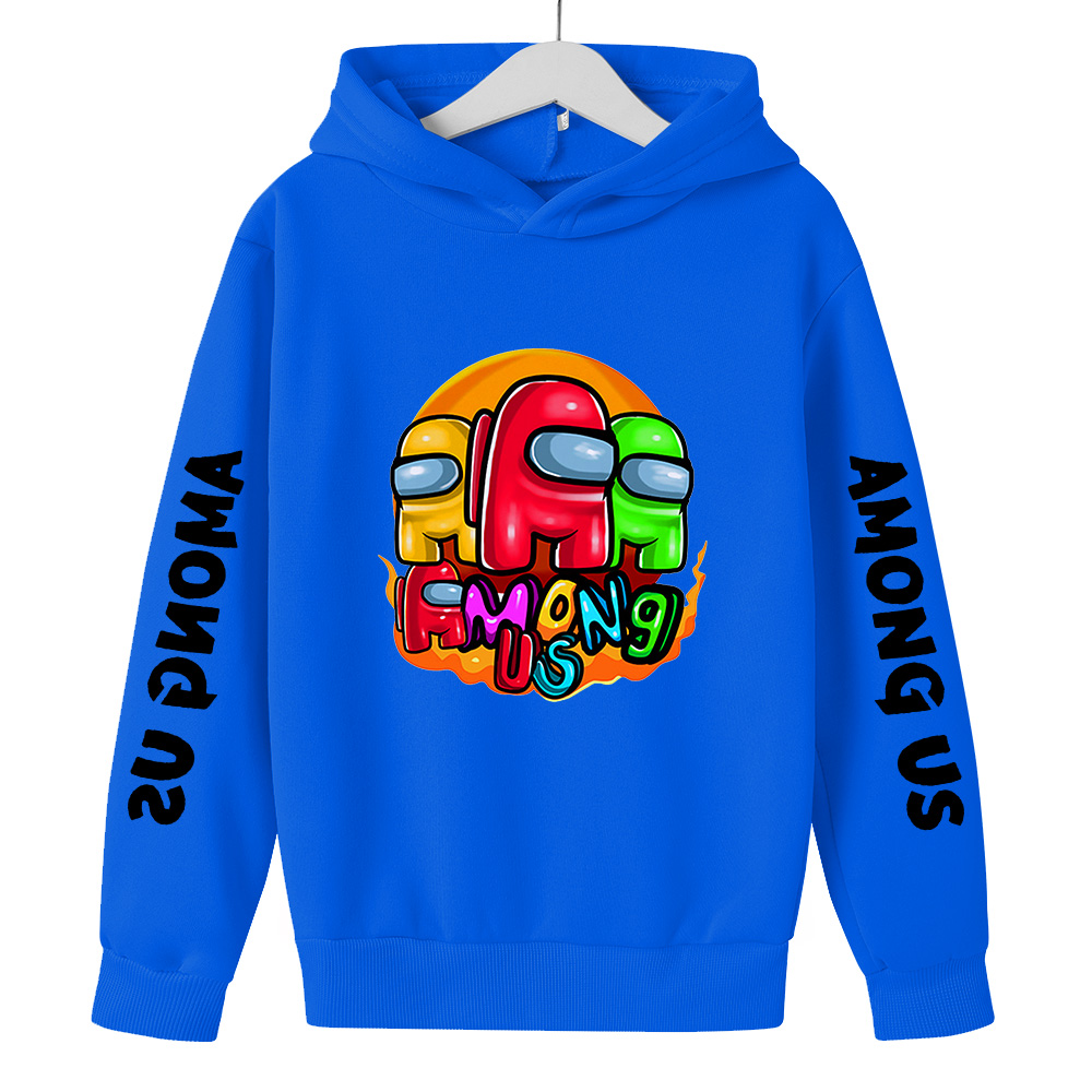 Among Us Hoodie Kids Size Boys&Girls Long Sleeve Sweatshirts Children's Pullover Street Style Games Harajuku Clothes Fashion