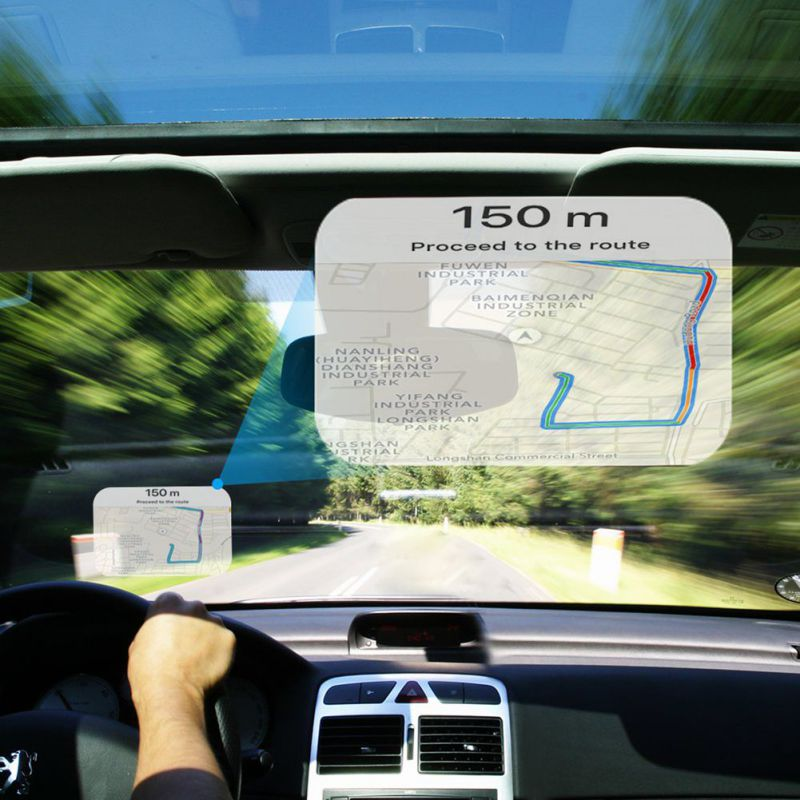Head Up Display Protective Reflective Screen Consumption Overspeed Display Auto Accessories Car Styling Car HUD Reflective Film Pakistan