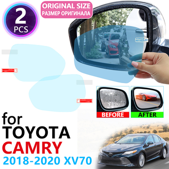 for Toyota Camry 70 XV70 2018 2019 2020 Full Cover Rearview Mirror Anti-Fog Films Rainproof Anti Fog Film Clean Car Accessories image