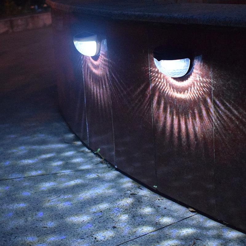 Solar LED Light Waterproof Solar Power Light Sensor Wall Light 6 LEDs Auto ON/OFF Outdoor Garden Patio Fence Lamp Semi-circular