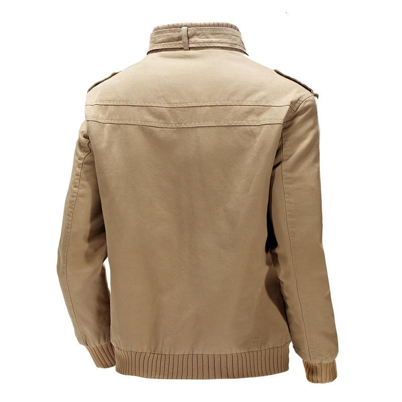 KOSMO MASA, хлопковая куртка бомбер, Мужская ветровка, Военный стиль, 4xl, черный цвет, весна осень, повседневная мужская куртка и пальто для мужчин... - 3