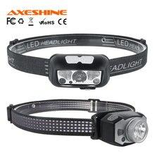 AXESHINE-Mini faro LED para pesca nocturna, XP-G2 + 2*3030, luz roja, resistente al agua, para exteriores, Camping