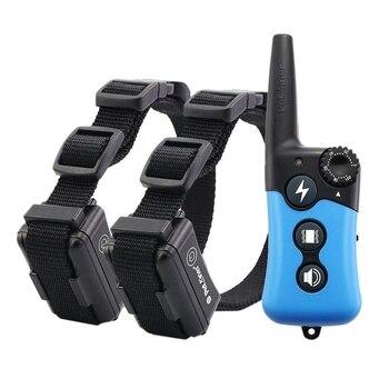 EU Plug 300M recargable a prueba de agua Control remoto entrenador de perros ladrar Stopper Collar eléctrico perro Trainer