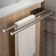 ZUNTO Towel Holder 40 cm Double Arm Towel Rail Stainless Steel Brushed Bath Towel Rack Wall Mounted Towel Hanger Bathroom Brief недорого