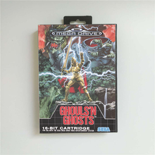 Ghouls N Ghosts   EUR Cover With Retail Box 16 Bit MD Game Card for Sega Megadrive Genesis Video Game Console