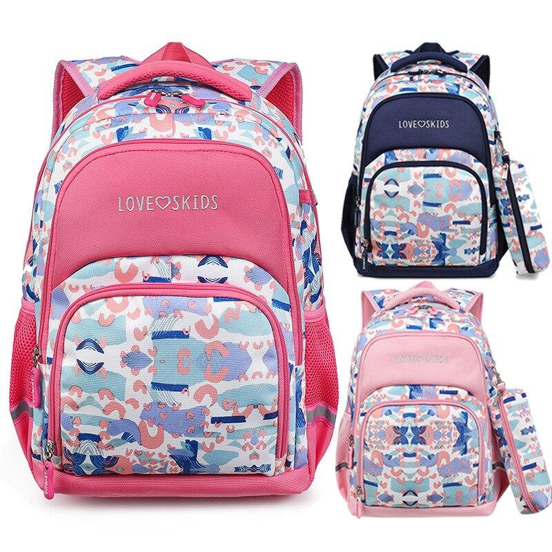 Waterproof Children Printing Girl School Bag Kid Lightweight Backpack Zipper Backpacks School Bags For Teenagers Girls