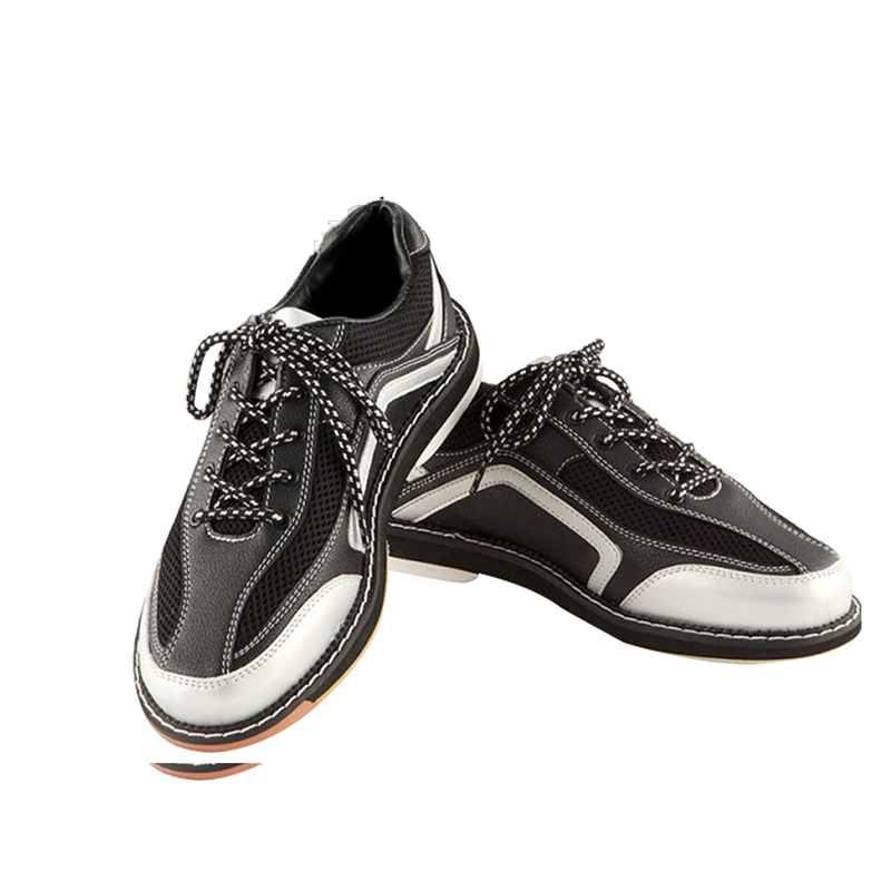 High Quality Bowling Shoes Mens Anti-Skid Outsole Sneakers Leather Breathable Sport Shoes Comfortable Training  Footwear