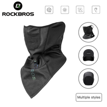 ROCKBROS Winter Scarf Warm Fleece MaskThermal Breathable Cycling Scarfs Running Snowboard Motorcycle Skiing Face Windproof Mask