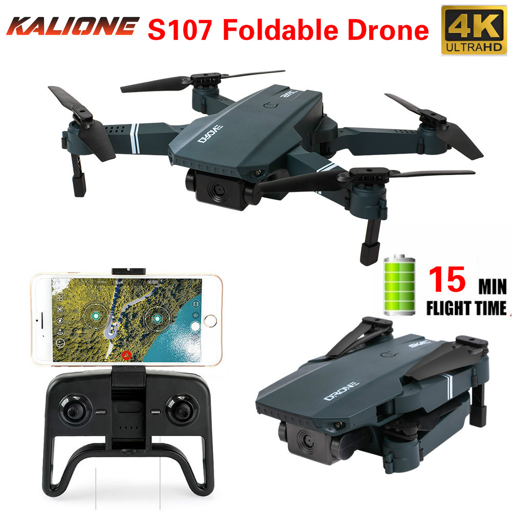 S107 4K WIFI Camera Drone  HD quadcopter fpv drones rc helicopter Hight Hold quadrocopters with camera HD Follow one key return