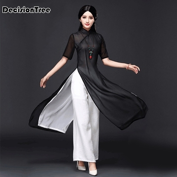 2020 vietnam aodai chinese traditional dress qipao long cheongsam chinoise modern