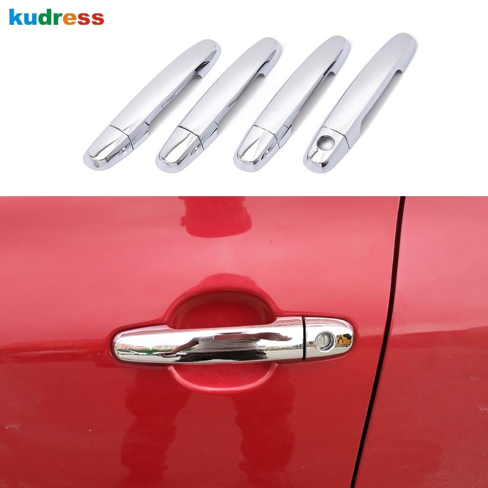 ABS Chrome Car 4 Door handle Cover Auto Door Knob Sticker Fit For 2014 Corollas