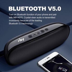Image 4 - NBY 4070 Portable Bluetooth Speaker 10W Wireless Speakers with Subwoofer Support TF USB FM Radio for Laptop Computer