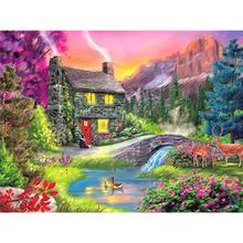 Алмазная живопись «сделай сам» вышивка крестиком пейзаж картина