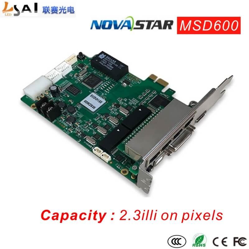 Sending card MSD600 Product Type Controller Capacity 2.3 million pixels Supply Voltage AC-100-240V-50/60HZ