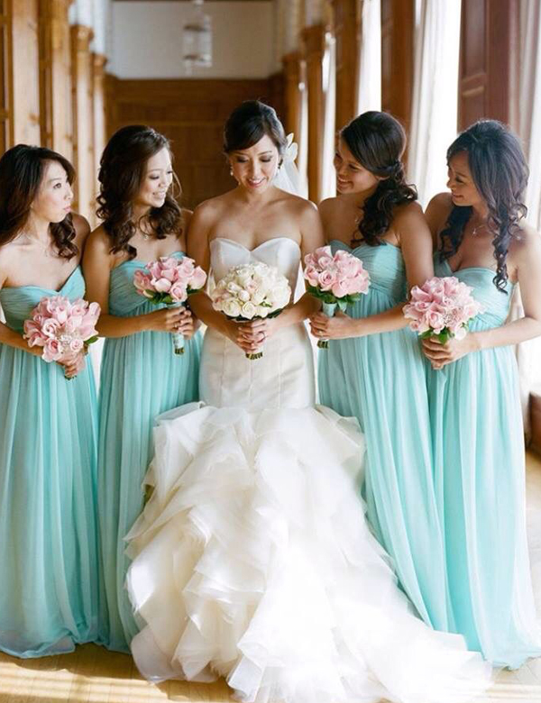 Charming Off The Shoulder Bridesmaid Dresses Chiffon Maid Of Honor Dress For Wedding Party