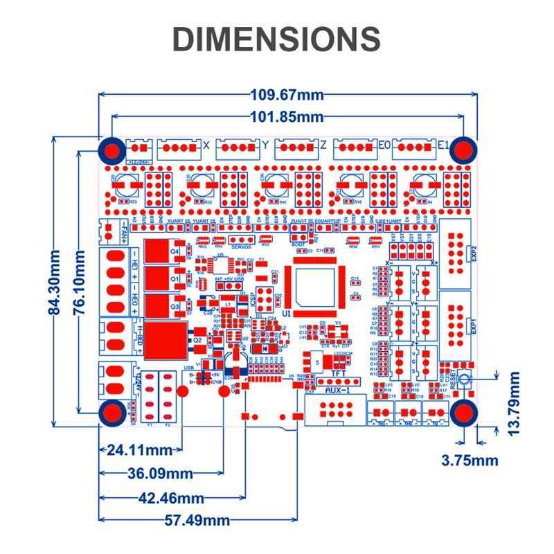SKR V1.3 3D Placa de impresora 32Bit Control TMC2208 A4988 3D piezas de impresora MKS GEN L rampas 1,4 SKR PRO para Ender 3 CR10