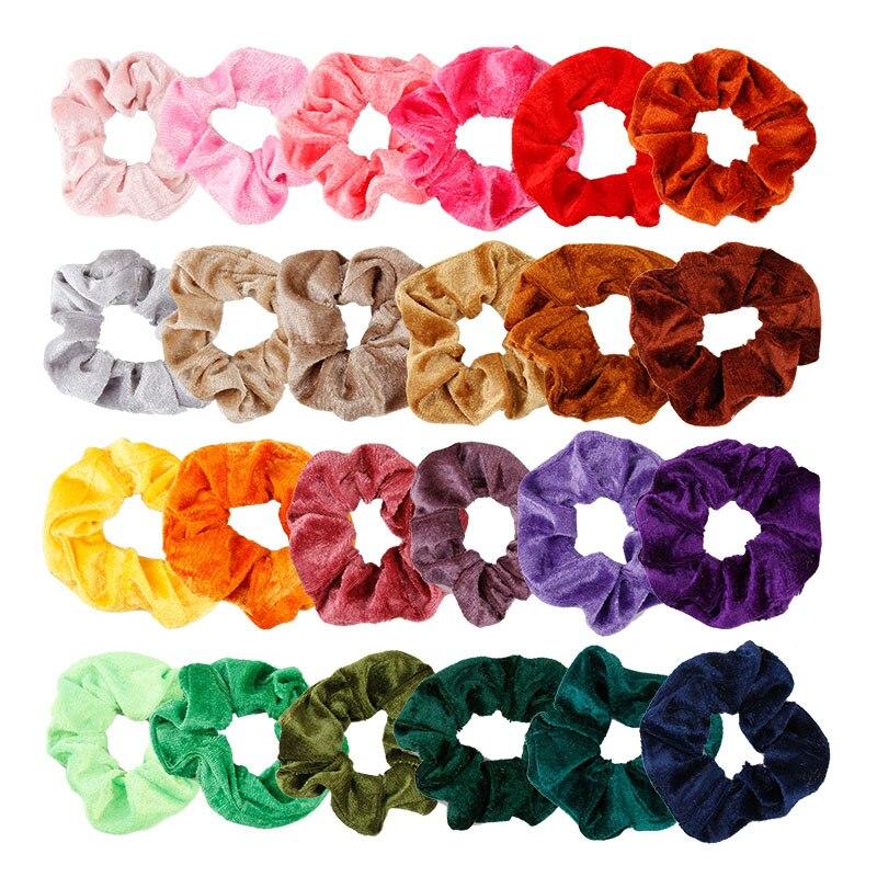 39Colors Korea Velvet Hair Scrunchie Elastic Hair Bands Solid Color Women Girls Headwear Ponytail Holder Hair Accessories