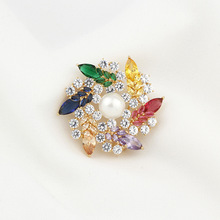 2020 Brooches Pins Bouquet Scarf Jewelry Pin for Women Flower Brooch Wreath Colorful Rhinestone Lapel Pin Classic Christmas Gift fashion christmas wreath brooch cute jewelry christmas gift pins and brooches crystal mosaic collar clip scarf buckle jewelry